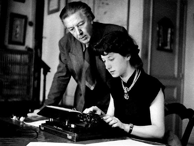 Monique Fong y André Breton.