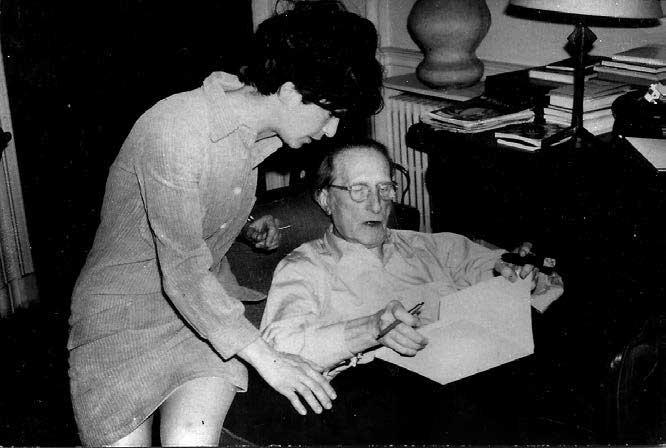 Monique Fong y Marcel Duchamp.