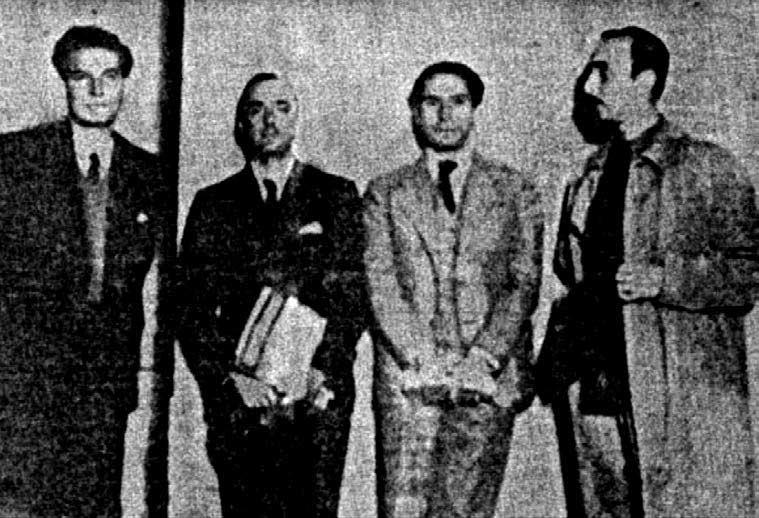 Octavio Paz, Carlos Pellicer, Luis Cardoza y Aragón y Fernando Gamboa, aparecida en El Nacional, ca. 1936.