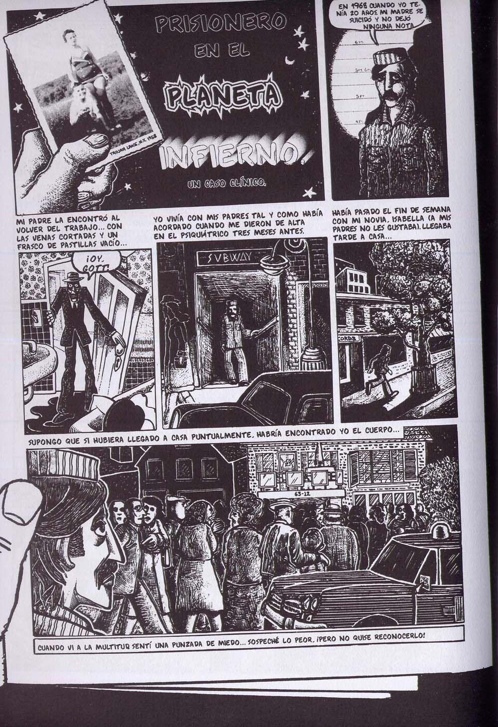 """""""Prisionero en el Planeta Infierno. Un caso clínico"""", de Art Spiegelman."""