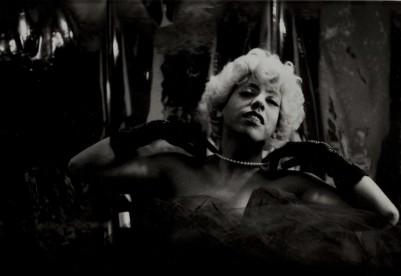 Foto: Agustín Martínez Castro                                         Tito Vasconcelos de Marilyn Monroe, febrero de 1987