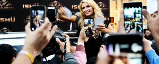 Paris Hilton en Torreón. Foto de Jesús Flores.