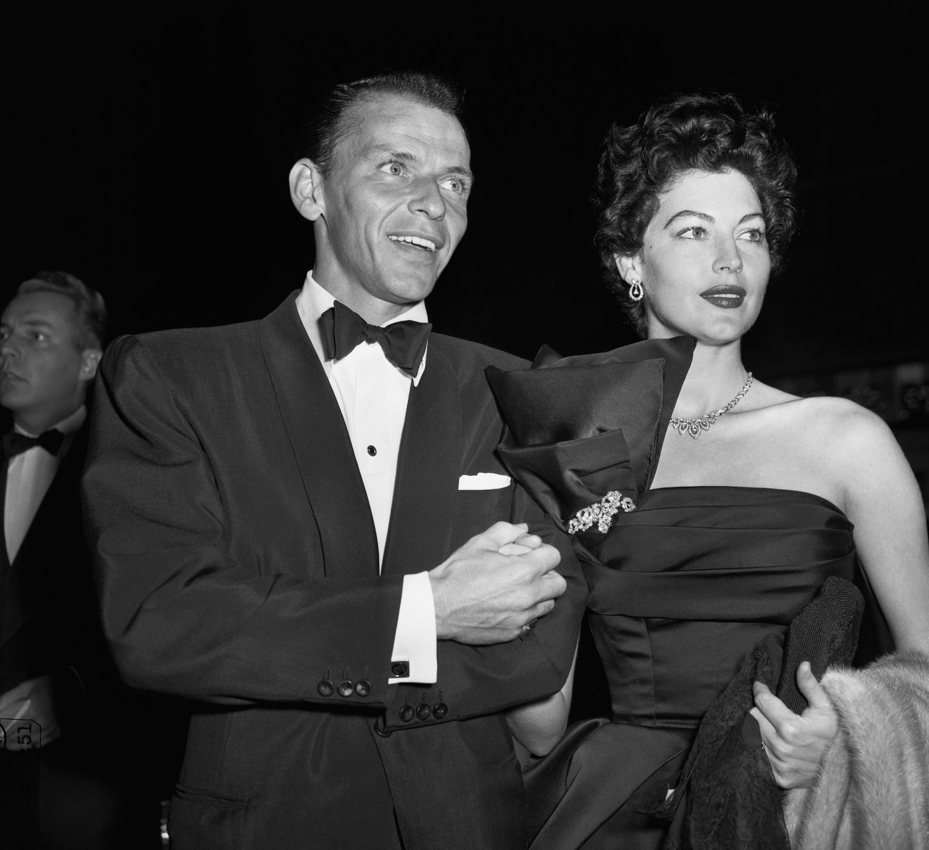 First public appearance for Frank Sinatra and Ava Gardner since Sinatra's wife granted him a divorce