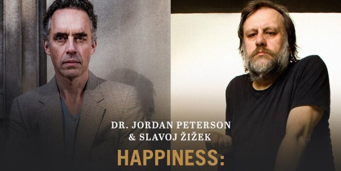 Cartel oficial del debate Peterson vs. Žižek