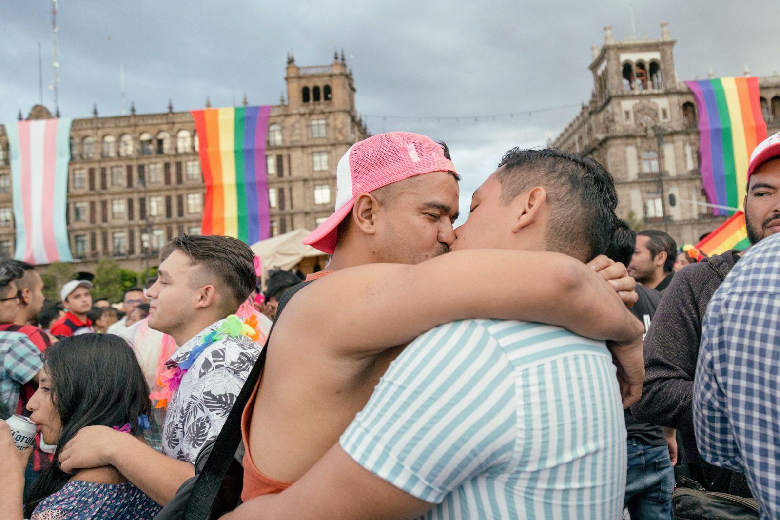 Fotografía de Irving Cabello durante la marcha LGBTTTIAQ+ 2019