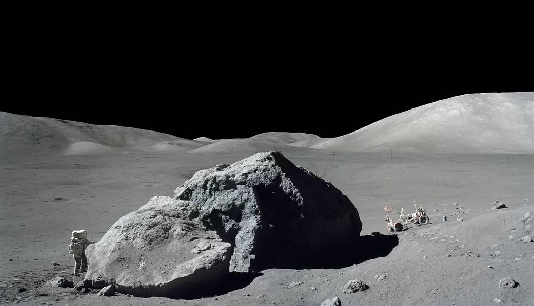 Actividad extravehicular del Apolo 17.