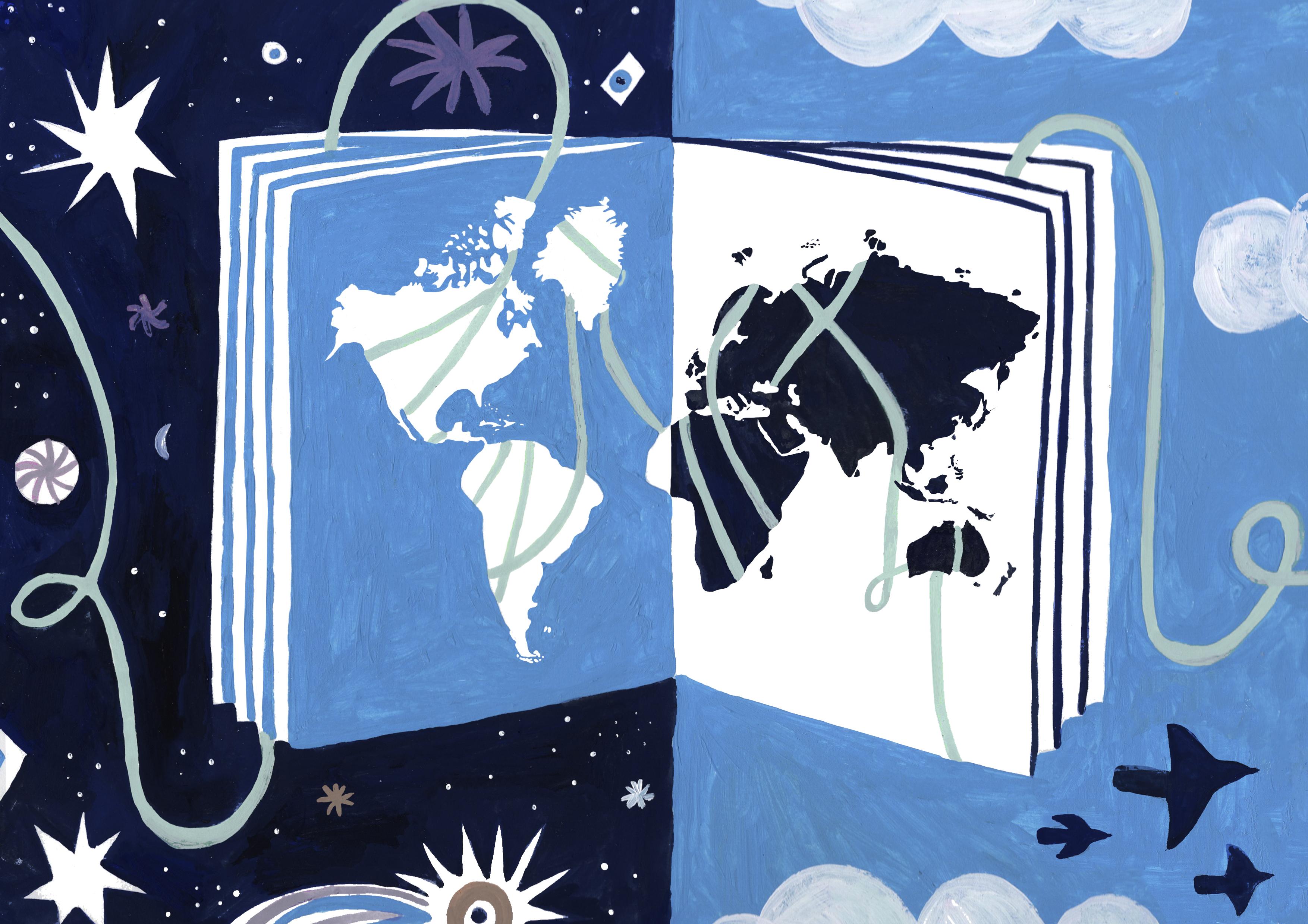 Ilustración de Carolina Monterrubio.