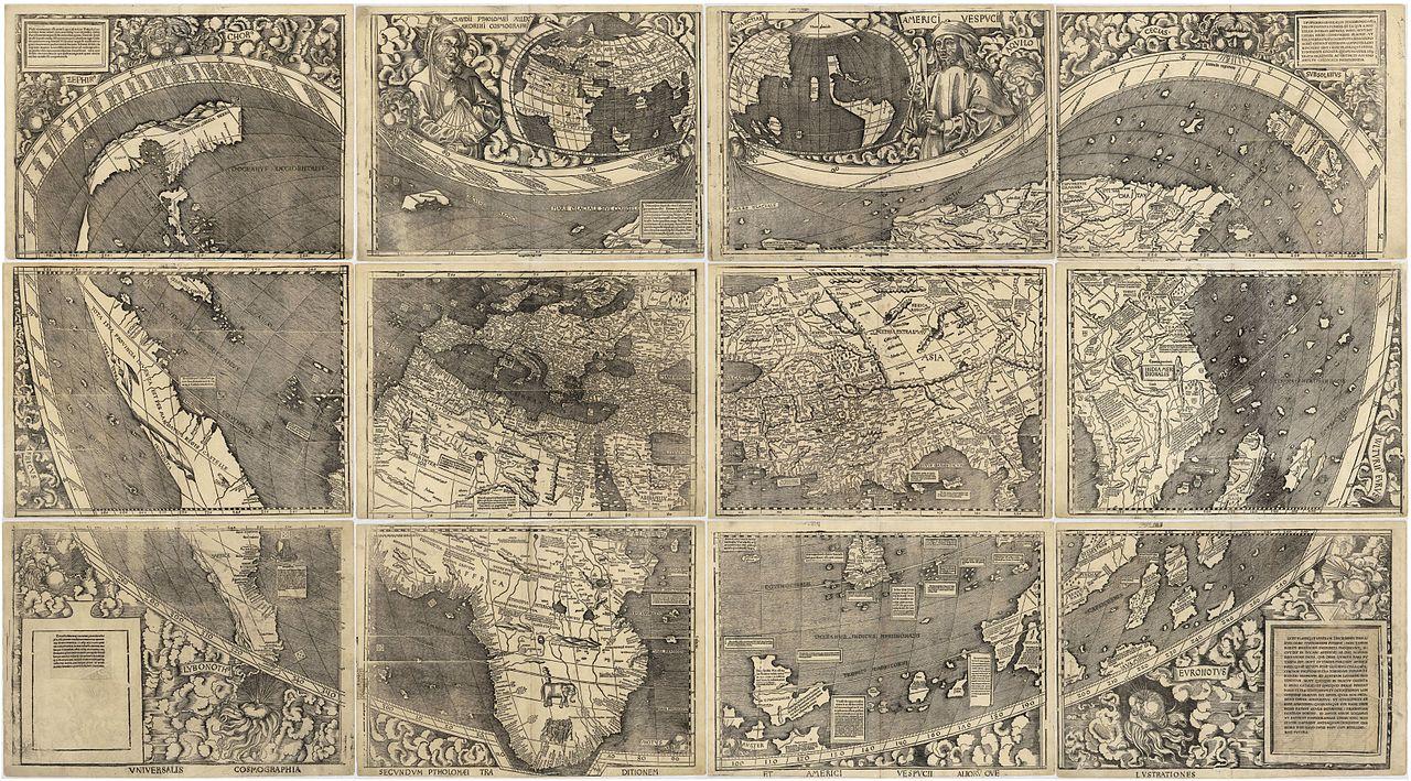 Martin Waldseemüller, Universalis Cosmographia, 1507.