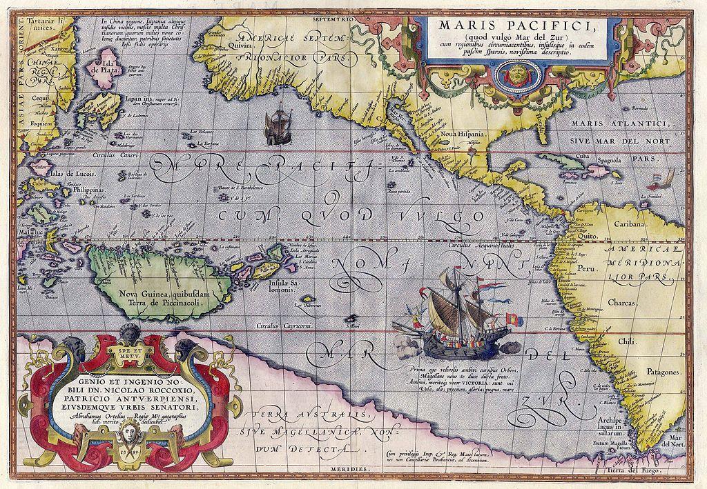 Abraham Ortelius, Maris Pacifici, 1598