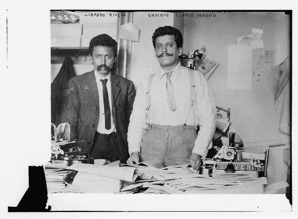 Librado rivera y Enrique Flores Magón. Flickr