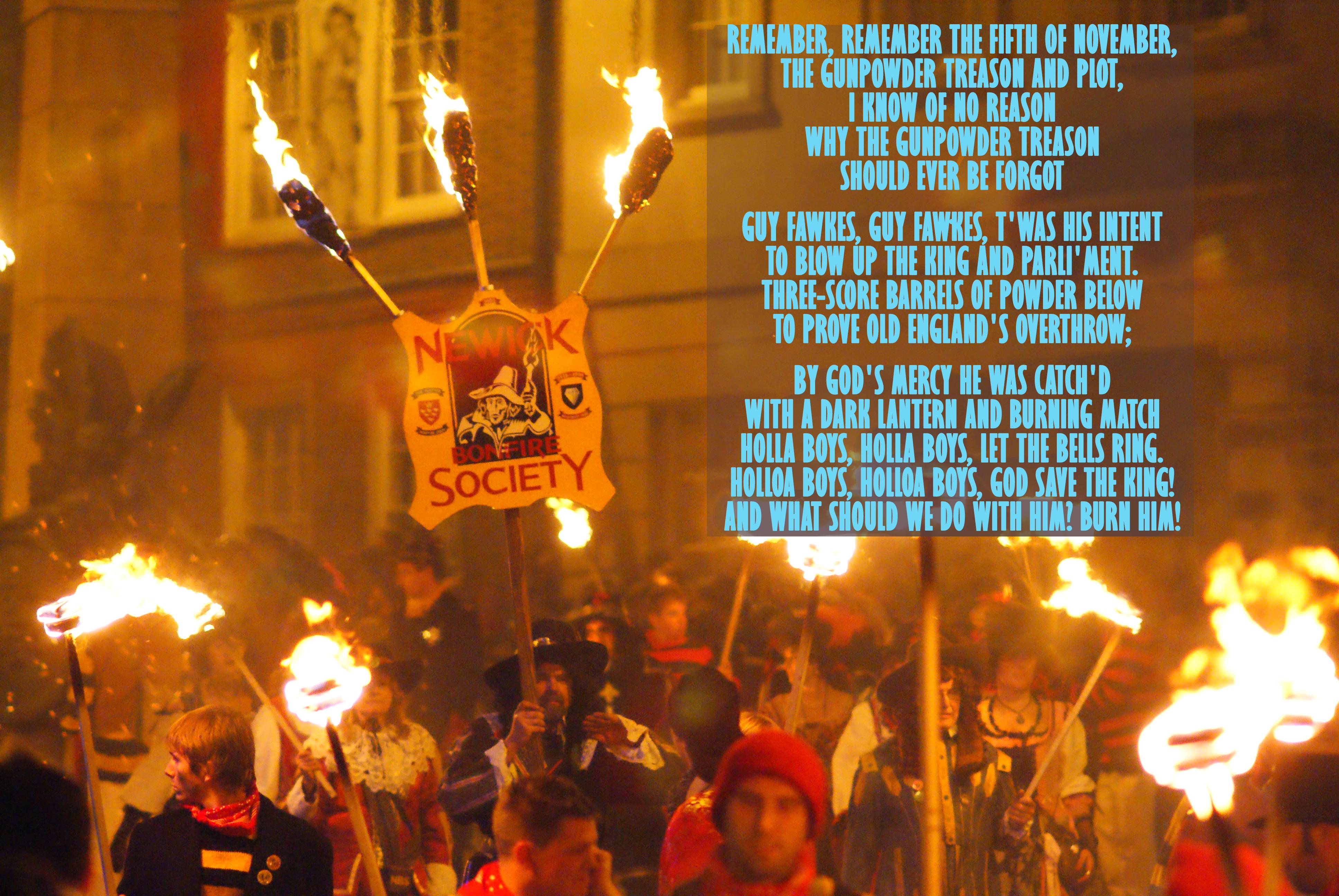 Peter Trimming, Lewes Guy Fawkes Night Celebrations, Wikimedia Commons, modificado por la Redacción de Tierra Adentro