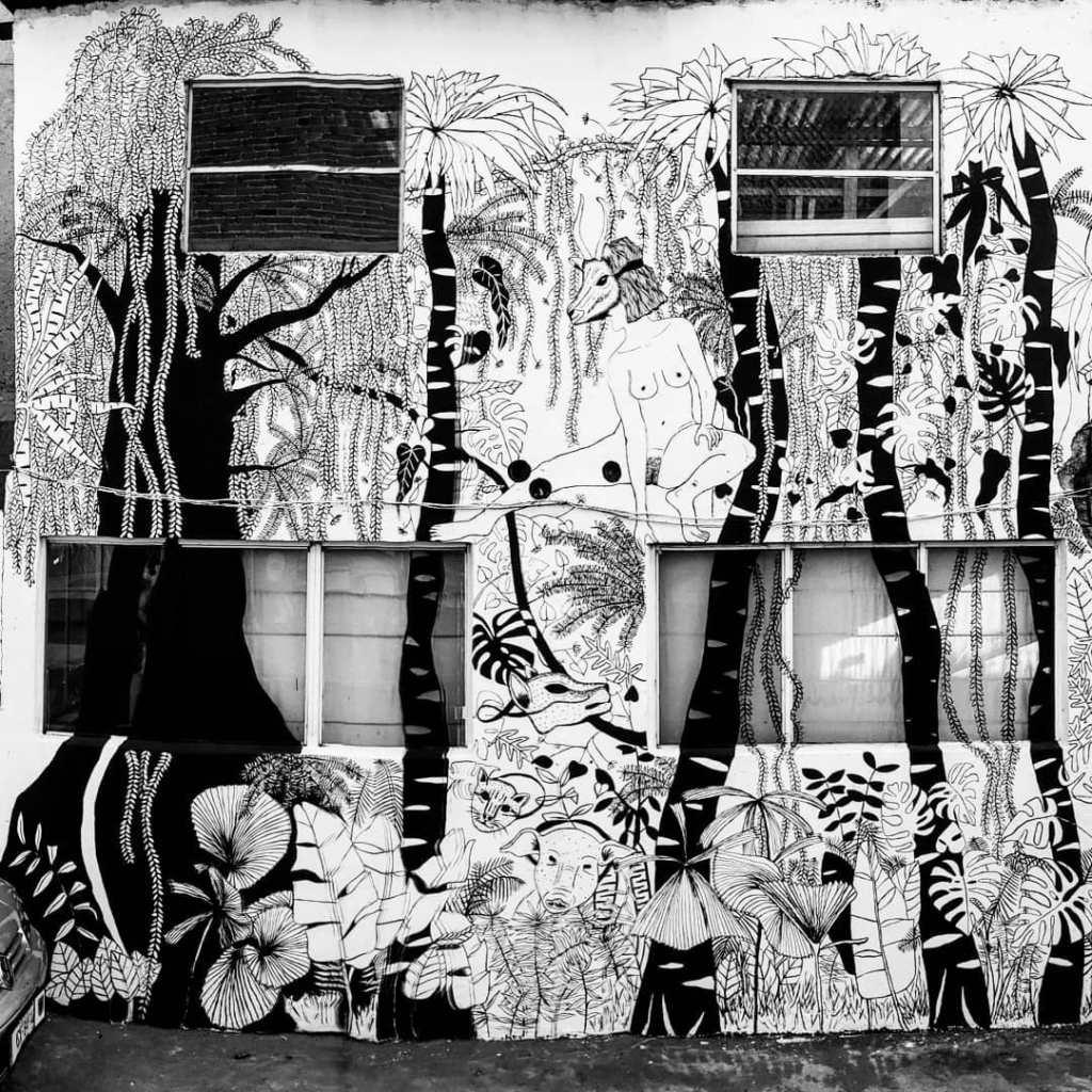 Irasema Fernández, mural, 2018.