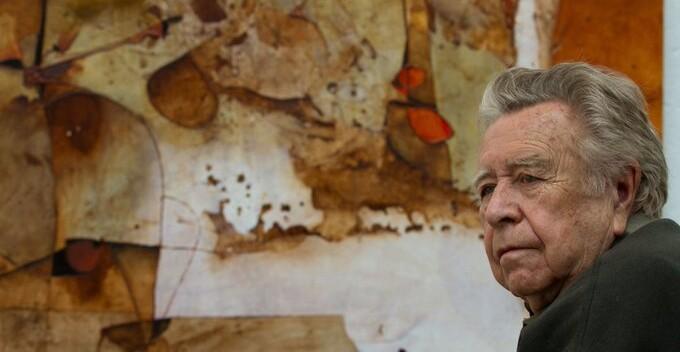 Manuel Felguérez. Foto: Secretaría de Cultura.