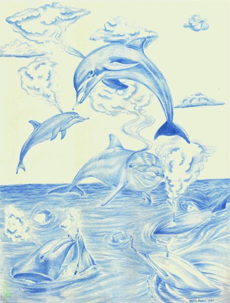 Delfines fumando (2021)