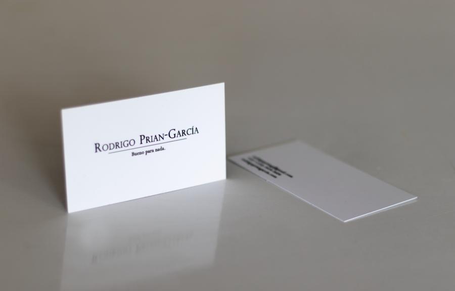 Rodrigo Prian-García, Tarjetas de presentación (Bueno para nada), 2018